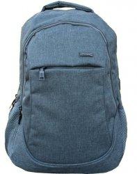 Szary Plecak Młodzieżowy z USB Szkolny Sportowy [608639]