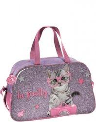 Torba Sportowa z Kotkiem Kot dla Dziewczyny [PTG-074]
