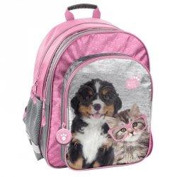 Plecak Szkolny Piesek Kotek dla Dziewczyny do Szkoły