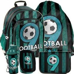 Plecak dla Chłopca z Piłką Modny Zestaw Szkolny [PP19F-090]