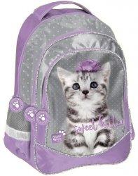 Modny Plecak z Kotkiem Szkolny dla Dziewczynki [PTC-181]