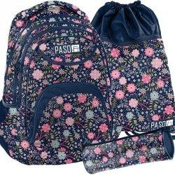 Plecak Młodzieżowy Szkolny Zestaw Kwiaty [PPMZ19-2708]