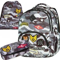 Plecak CoolPack Cp Moro Młodzieżowy dla Chłopaków Naszywki [A16111]
