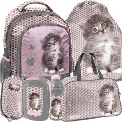 Plecak z Kotem dla Dziewczyny Szkolny Kotek [RLD-260]