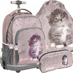 Plecak na Kółkach z Kotkiem dla Dziewczynki [RLD-887]