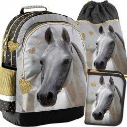 Plecak Szkolny dla Dziewczynki Komplet w Konie [PP19H-116]