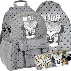 Plecak dla Dziewczyny Szkolny Myszka Minnie Szary [DMMI-810]