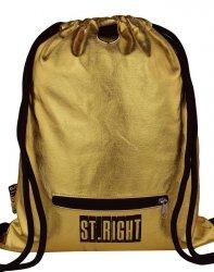 Worek jak Plecak Młodzieżowy Gold Złoty St.Right [SO11 GOLD]