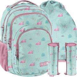 Plecak Kolorowe Flamingi Młodzieżowy Szkolny [PPLF19-2706]