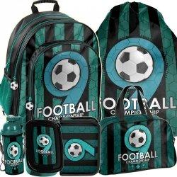 Szkolny Plecak dla Chłopca z Piłką Modny Big Komplet [PP19F-090]