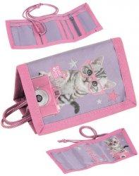 Portfel z Kotkiem dla Dziewczynki Portfelik Kot [PTG-002]