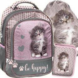 Szkolny Plecak z Kotami dla Uczennicy Kot [RLD-260]