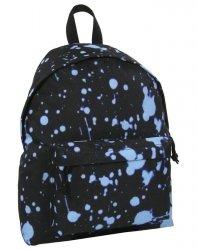 Plecak Vintage Młodzieżowy Derform Czarny Niebieski [16J 02]
