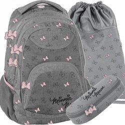 Szary Plecak dla Dziewczyny Młodzieżowy Myszka Minnie [DISD-2708/16]