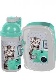 Śniadaniówka Bidon Kot dla Dziewczyny [PER-3022]