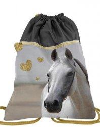 Duży Worek w Konie na Obuwie Buty Kapcie dla Dziewczyny [PP19H-713]