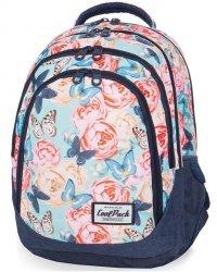 Modny Plecak CP CoolPack Młodzieżowy Motyle Kwiaty BUTTERFLIES [B05127]