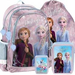 Plecak Kraina Lodu dla Dziewczynki Szkolny Komplet [DOE-081]