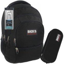 Czarny Duży Plecak Młodzieżowy Zestaw BackUP Szkolny [PLB1C27]