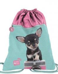 Duży Worek z Pieskiem Chihuahua dla Dziewczynki na Obuwie Buty [PTE-713]
