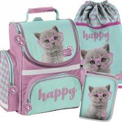Tornister z Kotem Kot dla Dziewczyny Szkolny Zestaw [PTF-525]