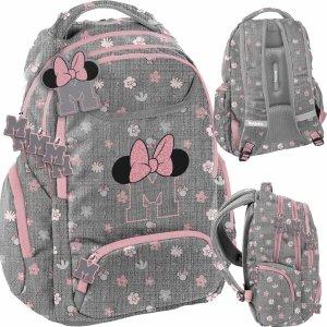 Nowoczesny Plecak Myszka Minnie Różowy Szary dla Dziewczyny [DIST-2908]
