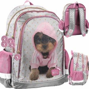 Plecak dla Dziewczynki Szkolny Pies York w Kapturze Paso [PTJ-081]