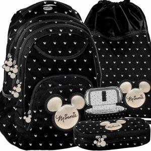 Plecak Myszka Mini Minnie dla Dziewczynki Nastolatki Czarny BeUniq [DIBL-2708]