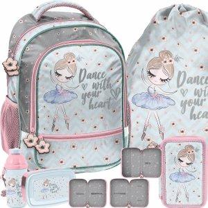 Plecak dla Dziewczyny Szkolny Baletnica Tancerka Paso 5 elem. [PP21BL-260]