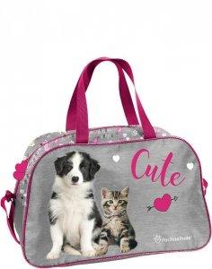 Torba Kot Pies dla Dziewczynki Sportowa Podróżna [RLE-074]