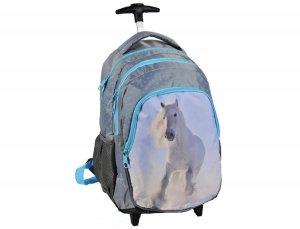 Plecak z Koniem na Kółkach dla Dziewczyny do Szkoły [17-997DR]