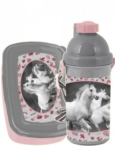 Bidon Śniadaniówka Koń Konie dla Dziewczyny [PP19HS-3022]