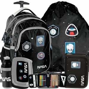 Nasa Plecak na Kółkach Kosmos Szkolny dla Chłopaka Ufo [PP20NS-997]