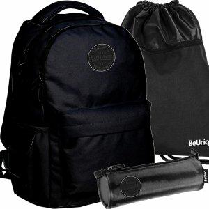 Nowoczesny Plecak BeUniq Vintage Czarny dla Młodzieży Paso [PPNE20-2705]