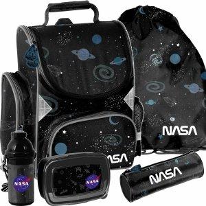 Czarny Tornister do 1 klasy NASA Paso Kosmiczny [PP21NS-525]