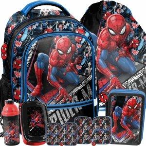 Szkolne Plecaki Spiderman Chłopięcy Komplet Paso [SPW-260]