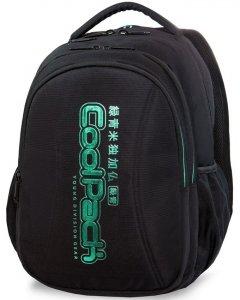 Czarny Cp CoolPack Plecak Młodzieżowy Green z Napisem [A22119]