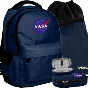 Plecak Vintage NASA Młodzieżowy BeUniq Chłopięcy [PPRR20-2705]