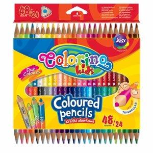 Kredki Dwustronne Colorino 48 Kolorów Ołówkowe [51705PTR]