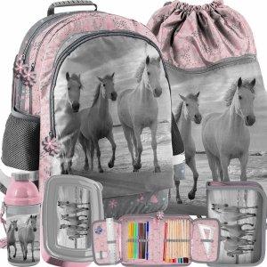 Konie Plecak Dziewczęcy Komplet 5w1 Koń Paso [PP21HO-116]