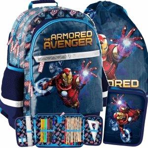 Marvel Avengers Plecak Szkolnych Chłopięcy Iron Man [AIN-116]