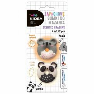 Zapachowe Gumki do Mazania Panda Koala 2 szt Kidea [GMZPK2KA]