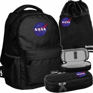 Nasa Plecak NASA Młodzieżowy BeUniq Czarny [NASA21-2705]