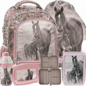 Szkolne Plecaki Dziewczęce Koń Konie Komplet Paso [PP20KO-260]
