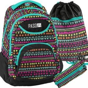 Plecak Młodzieżowy Szkolny dla Dziewczyny Zestaw [18-2708YO]