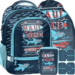 Plecak Szkolny Maui Sons dla Chłopaka Niebieski [MAUL-260]