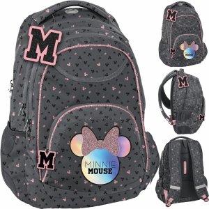 Szary Plecak Myszka Minnie dla Dziewczynki Paso [DMNA-2708]