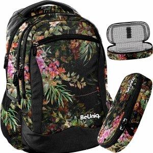 Nowy Młodzieżowy Plecak w Kwiaty i Listka dla Dziewczyny BeUniq [PPGD20-2808]