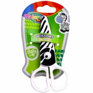 Nożyczki Plastikowe dla Dziecka 12,5 cm Colorino Bezpieczne Zebra [37275PTR]