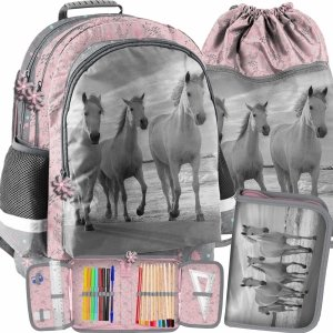 Szkolny Plecak Dziewczęcy w Zestawie Koń Paso [PP21HO-116]